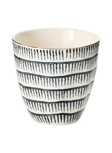 Warm Design Hand-Painted Porselen Kupa Renkli